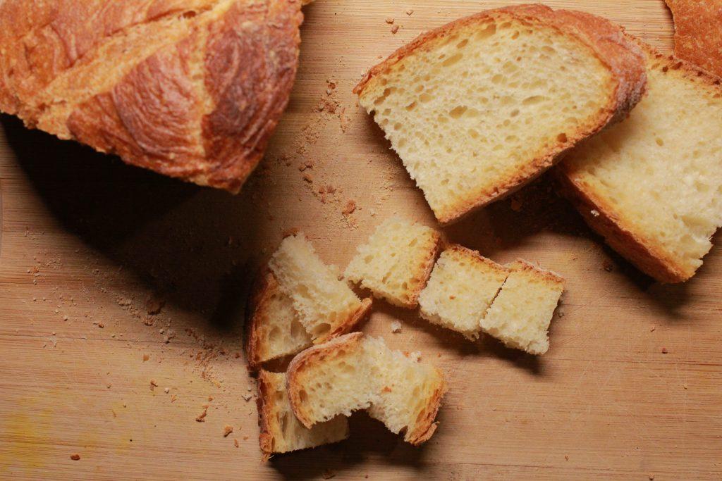 pane da tostare preparazione ceci