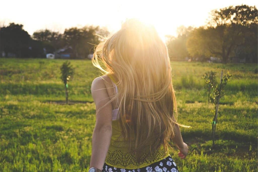 capelli biondi sani