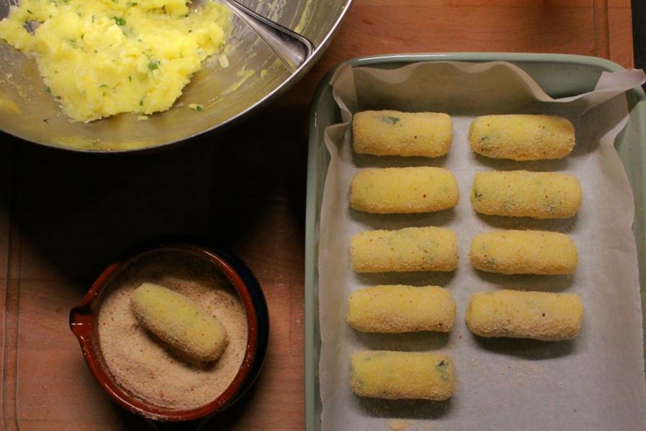 crocchette di patate in teglia da forno
