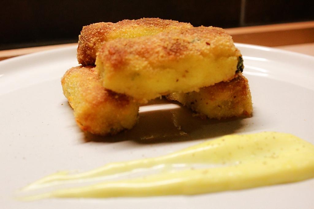 Crocchette di patate con maionese