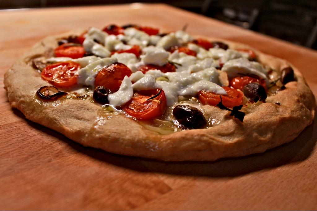pizza fatta in casa con lievito di birra fresco